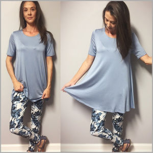 ❤️Last 1❤️ Baby Blue Buttery Soft Tunic Size SMALL